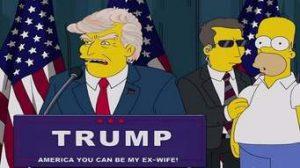 سيمبسون تبين لحظات فوز دونالد ترامب قبل عشرين عام من فوزه